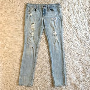 American Eagle skinny jeans distressed stretch 10